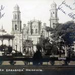 Plaza Zaragoza ( Circulada el 27 de Enero de 1913 ).