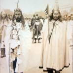Fiestas del primer Centenario ( 1910 ) Sacerdotes Aztecas por el fotografo Felix Miret.