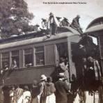 Tren ferroviario completamente lleno Veracruz.