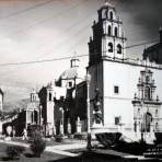 La Plaza mayor ( Circulada el 17 de Julio de 1957 ).