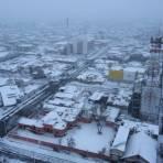 Ciudad Delicias nevada. (Erick Robledo)