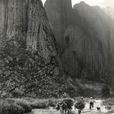 Arrieros en el Cañón de la Huasteca