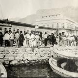 Evento público en el muelle de Guaymas y tienda Vladivostok (1908)