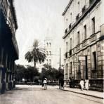 Calle de Hidalgo y catedral.
