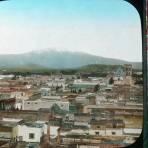 El Volcan Ixtaccihuatl visto desde Puebla.