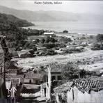 Panorama de La Playa de los muertos. - Puerto Vallarta, Jalisco